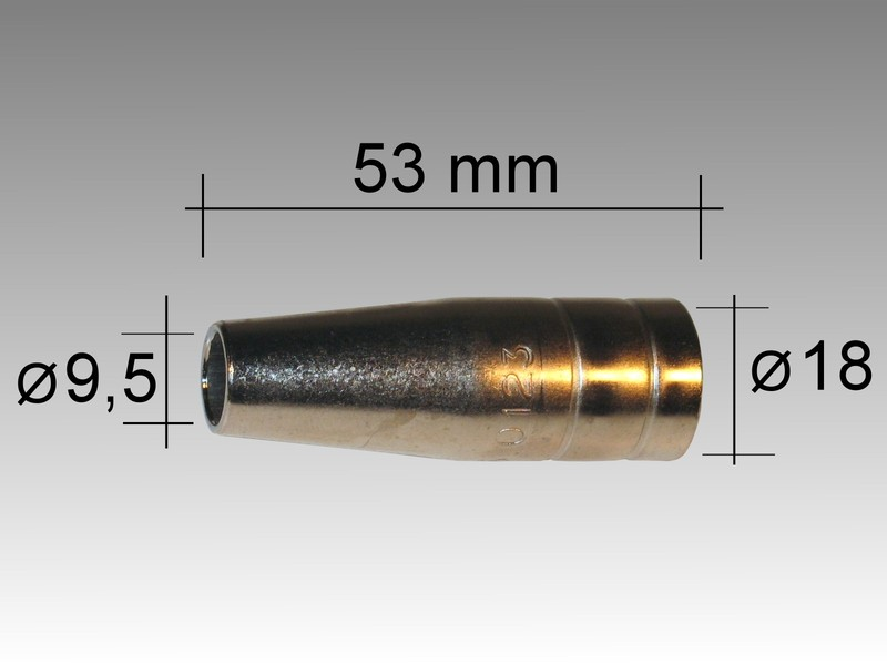 Газовое сопло TBI 150 D 9,5/53,0 мм